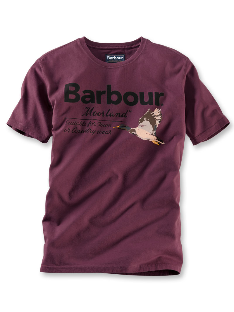 Barbour-Print-Shirt 'Moorland' in Burgundy