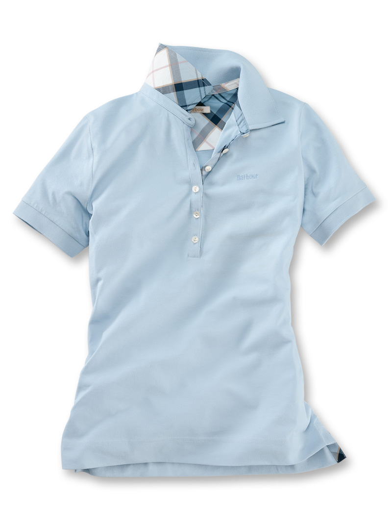 Barbour-Poloshirt 'Portsdown' in Pale Blue Bild 2