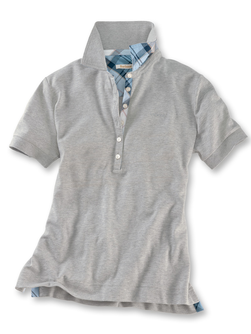 Barbour-Poloshirt 'Portsdown' in Light Grey Marl Bild 2