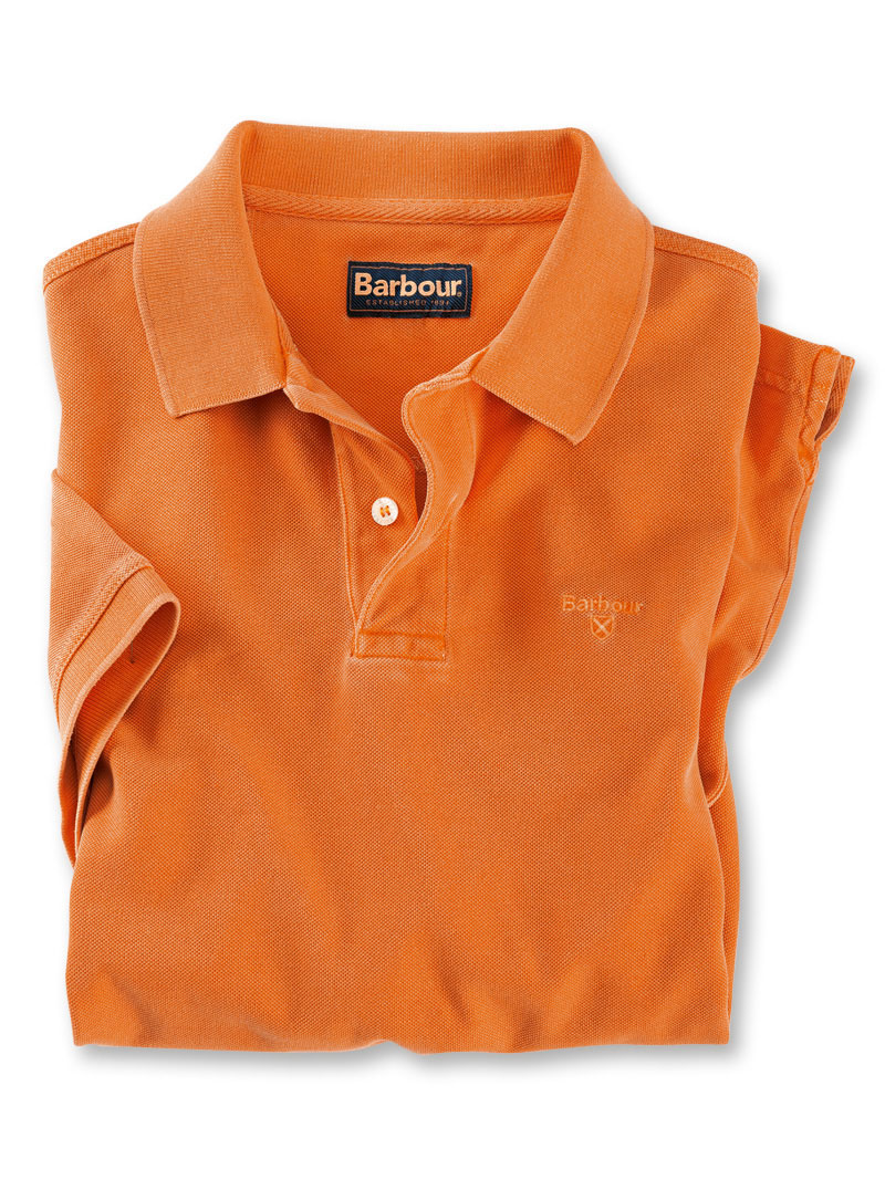 Barbours 'Sports Polo' in Orange