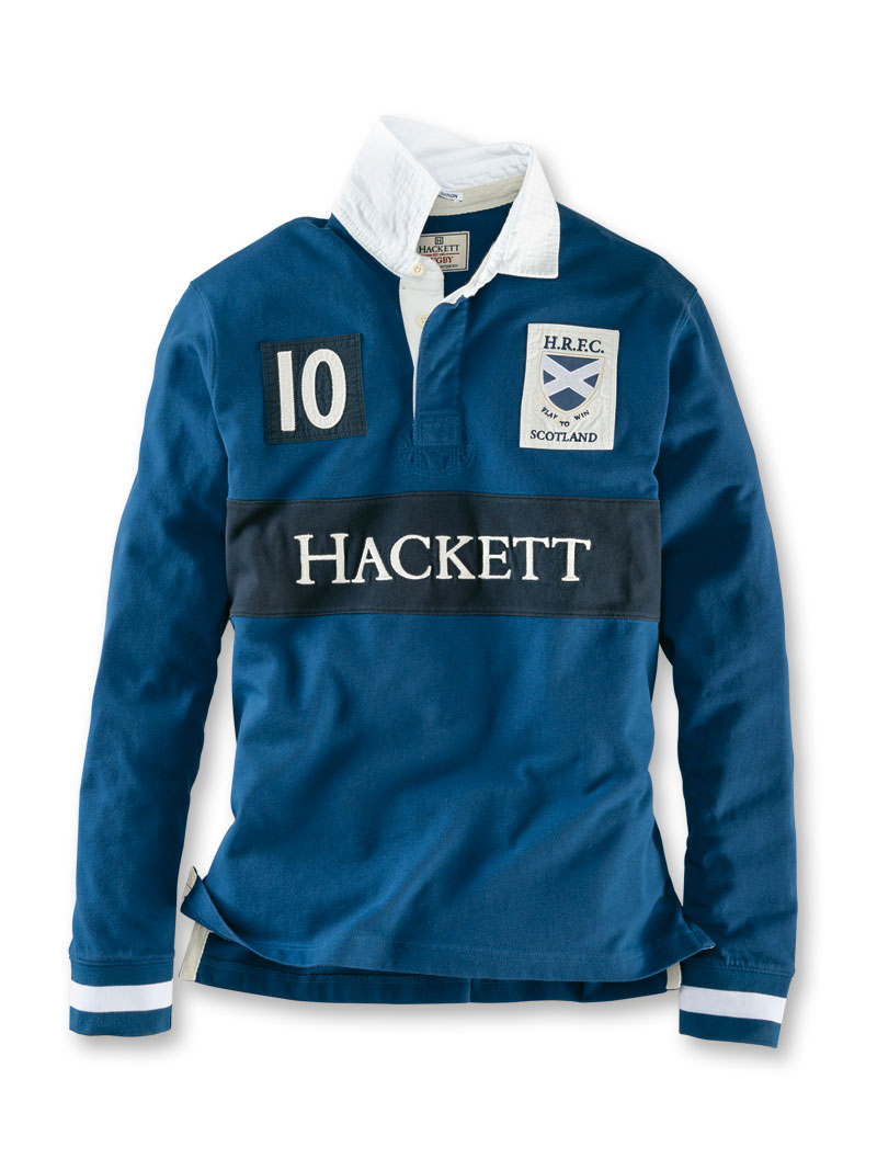 Rugbyshirt von Hackett in Navy