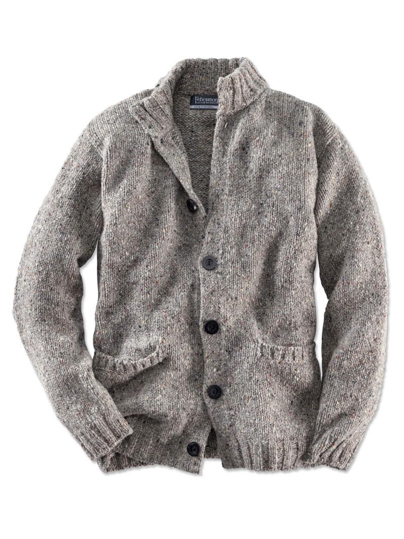 Cardigan aus Donegal-Wolle von Fisherman günstig bestellen - THE ... 301d78e7ab