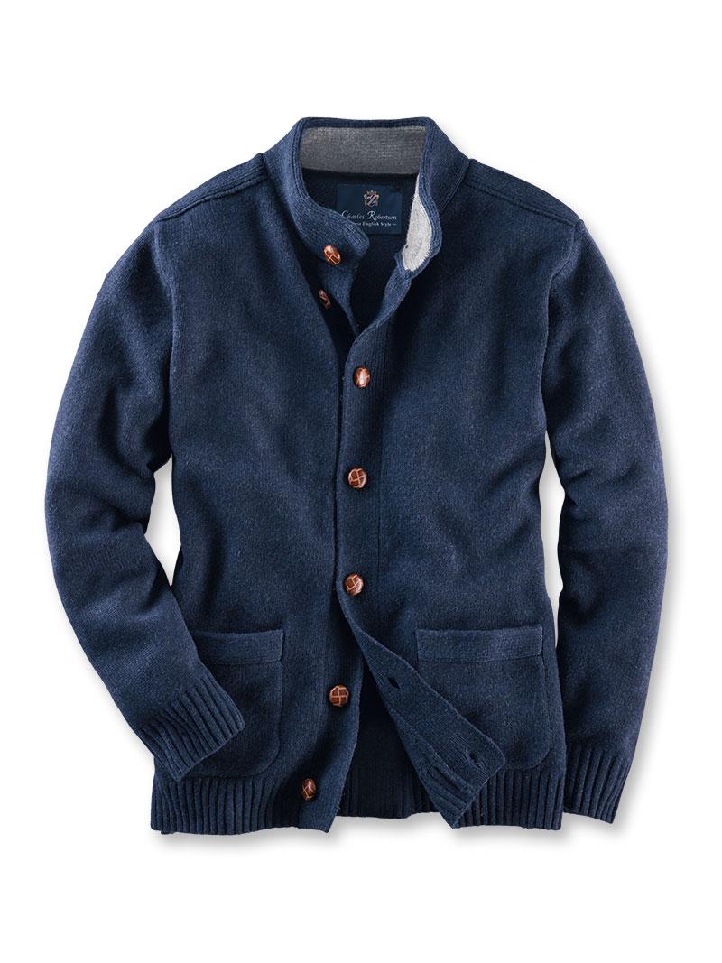 Robertson-Country-Cardigan aus Lambswool in Cooks Blue bestellen ... 52d2e80f9e