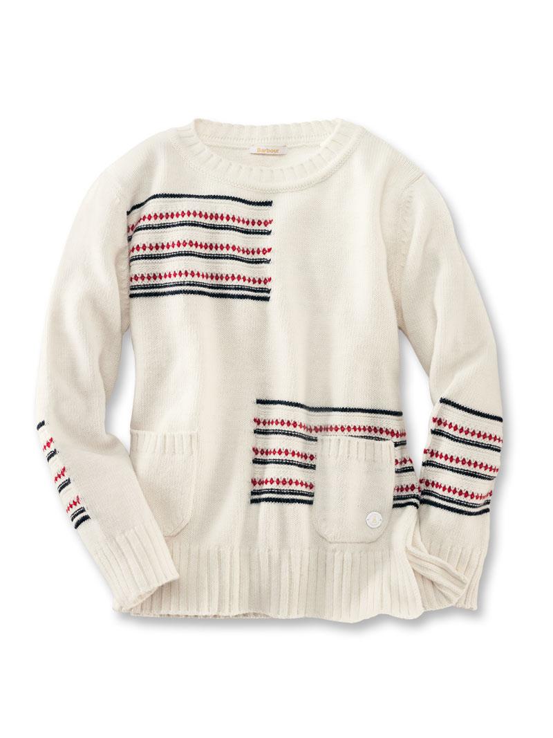 Barbour-Pullover  Seaton Knit  in Winterweiß günstig bestellen - THE ... ca62e14e70