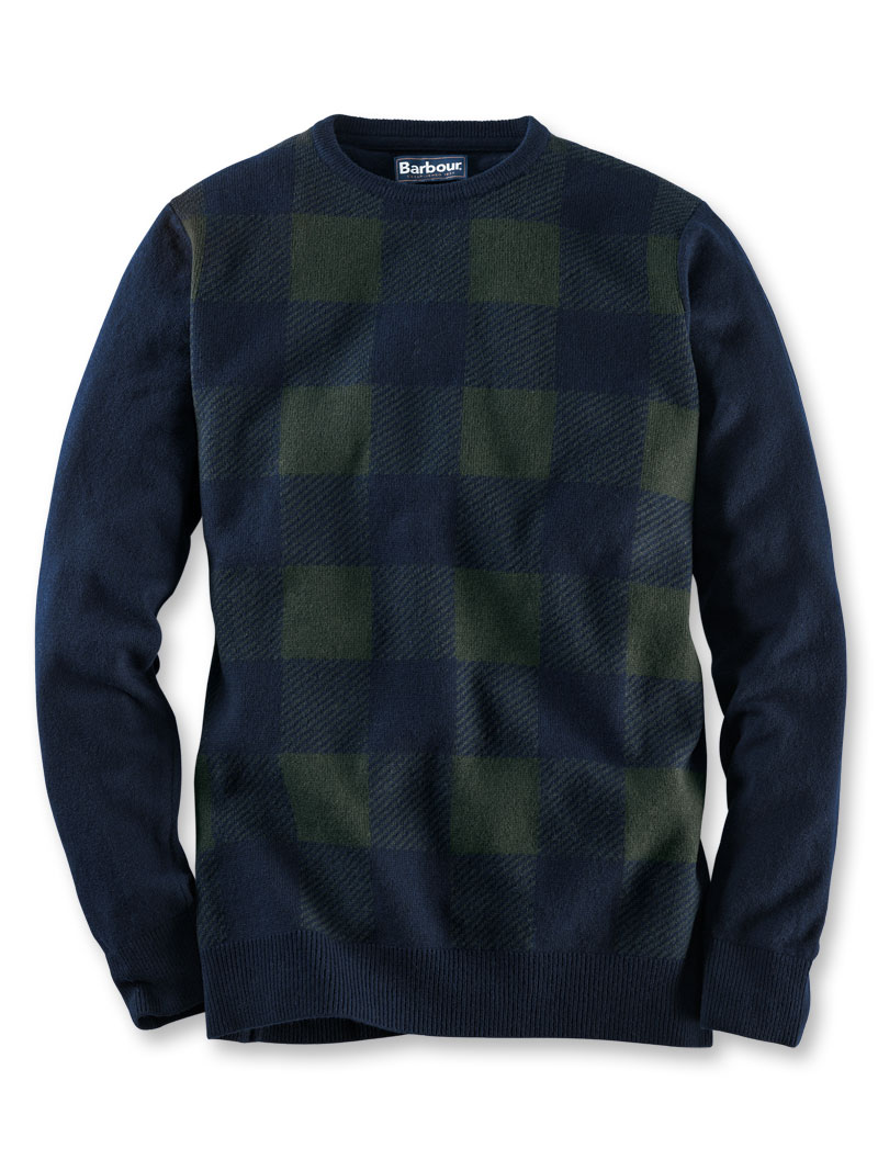 18fd542a1f5b Lambswool-Pullover im  Black Watch Check  von Barbour bestellen ...