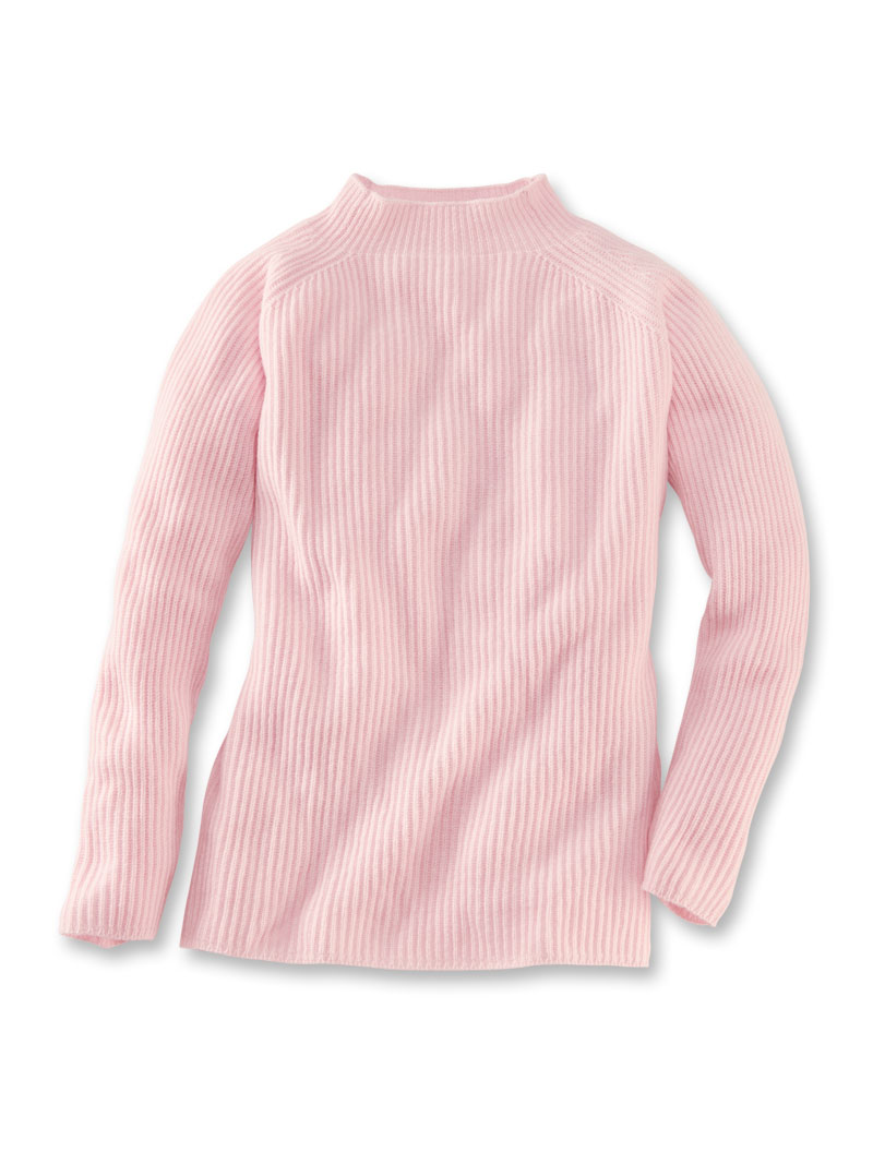 Kaschmir-Pullover in Zartrosé von William Lockie