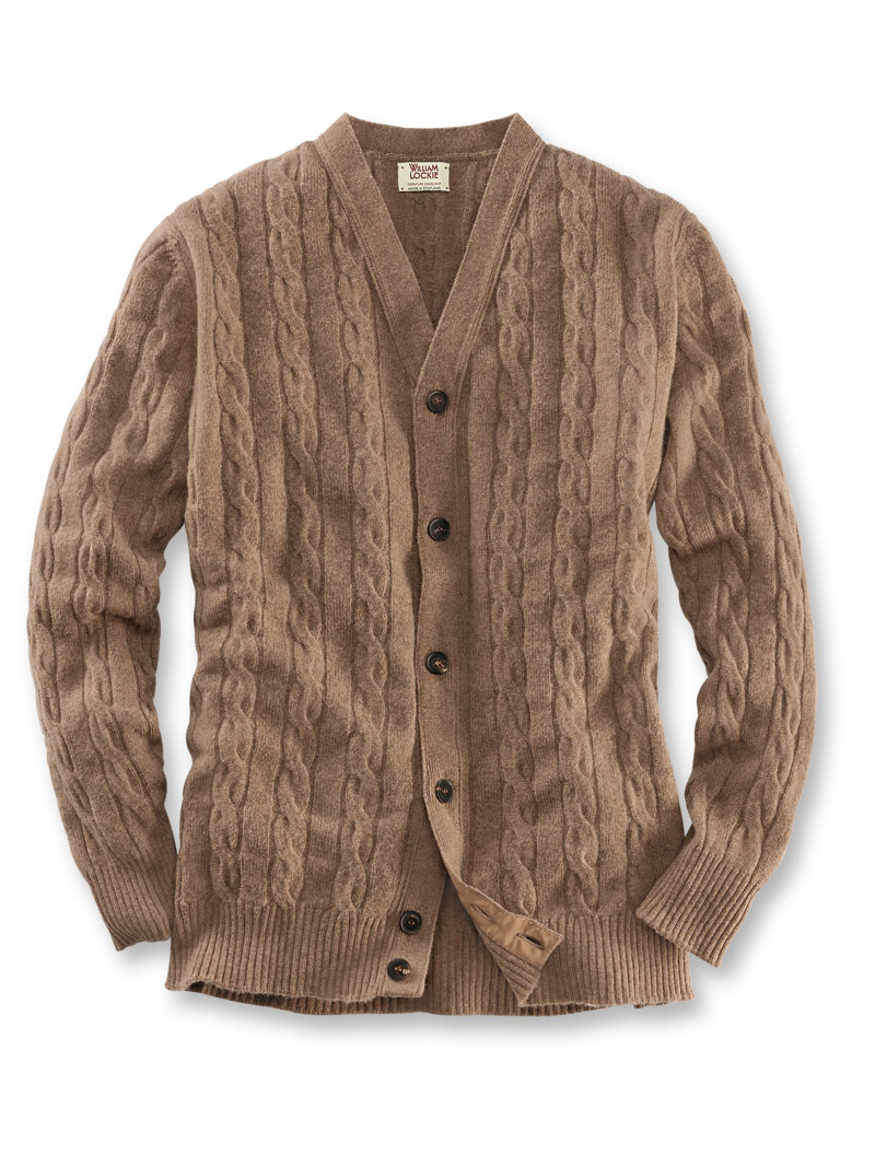 hot sale online 8e09c f5062 Kamelhaar-Cardigan in Braun von William Lockie