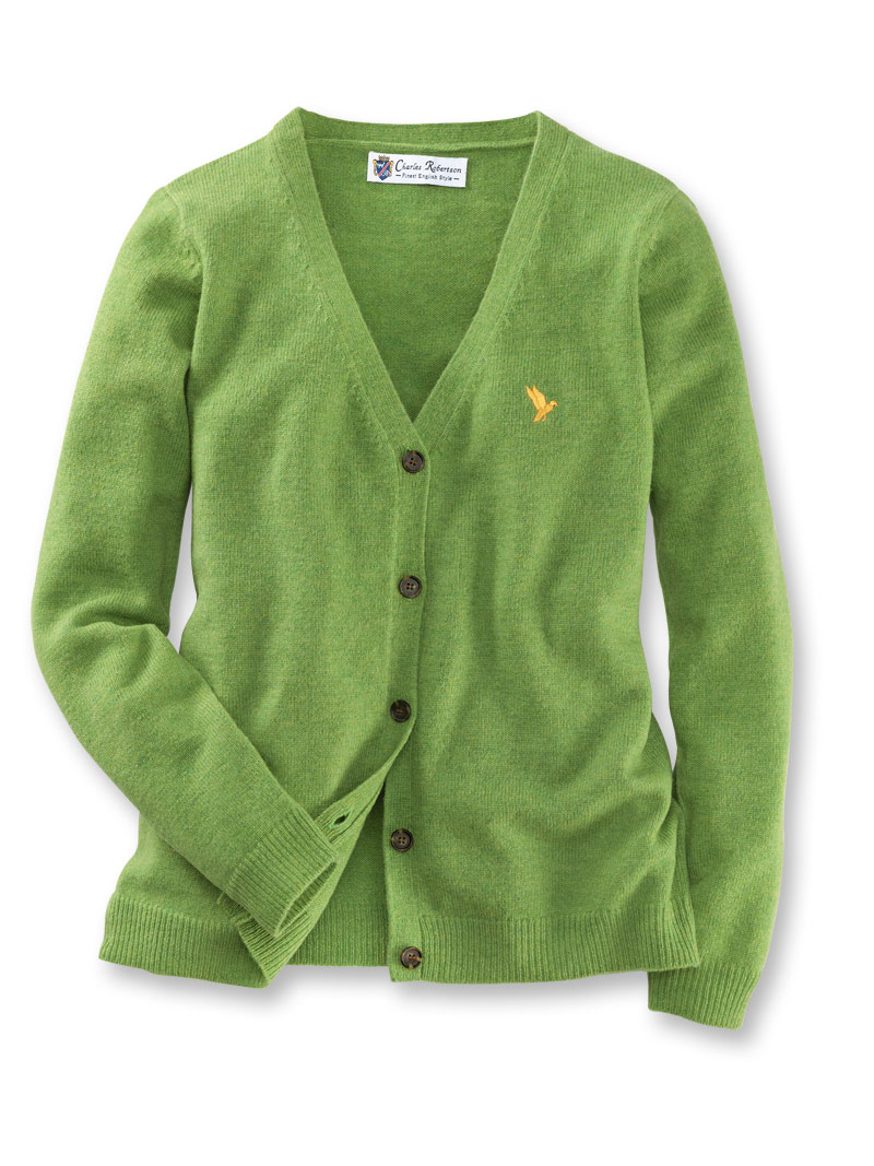 Lambswool-Cardigan in Apple Green von Charles Robertson Bild 2