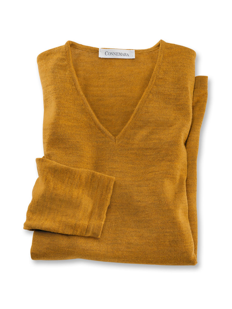 65431166a73a Merino-Pullover in Messing Meliert von Connemara bestellen - THE ...