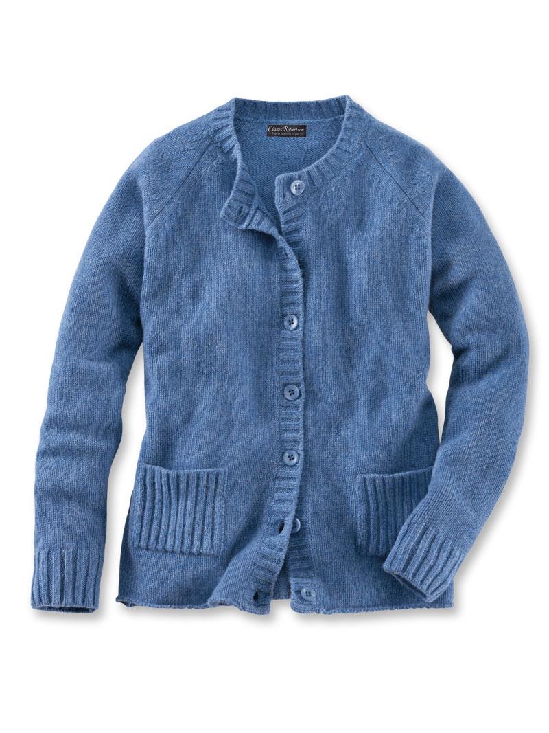 ziemlich cool neuer Lebensstil attraktive Mode Robertson-Cardigan aus Lambswool in Cornflower