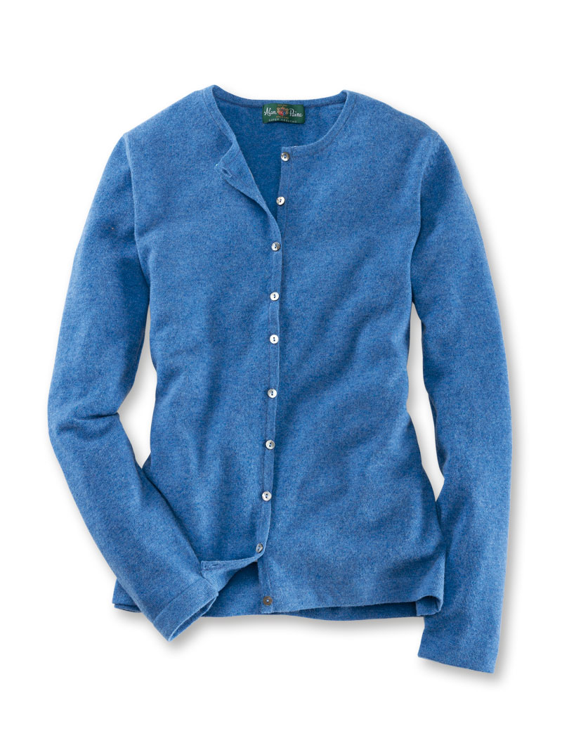 Damen-Cardigan in Mittelblau