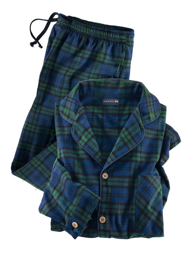 huge discount 6217a 6c344 Flanell-Pyjama 'Black Watch' für Damen und Herren
