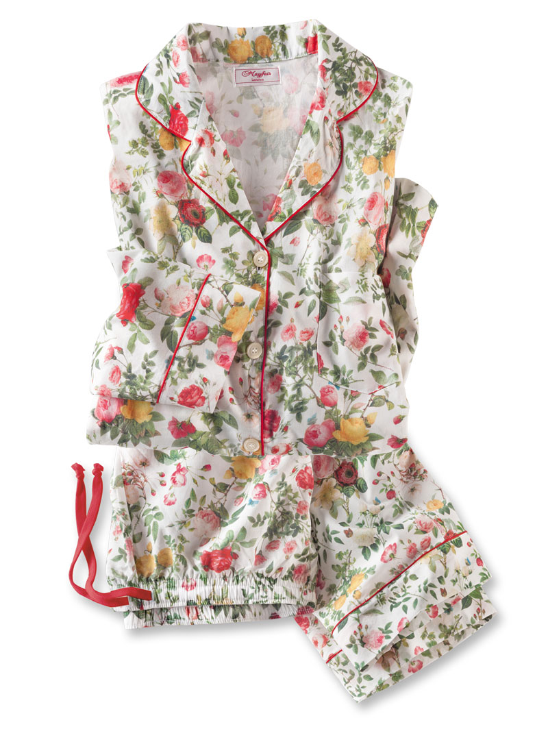 Batist-Pyjama 'English Roses' von Mayfair