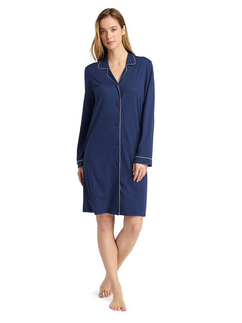 Jersey-Nightshirt 'Midnight' in Midnight Blue Bild 2