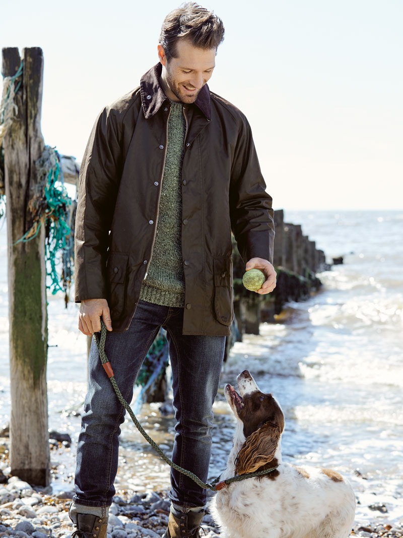 Barbour Wachsjacke Beaufort in Braun