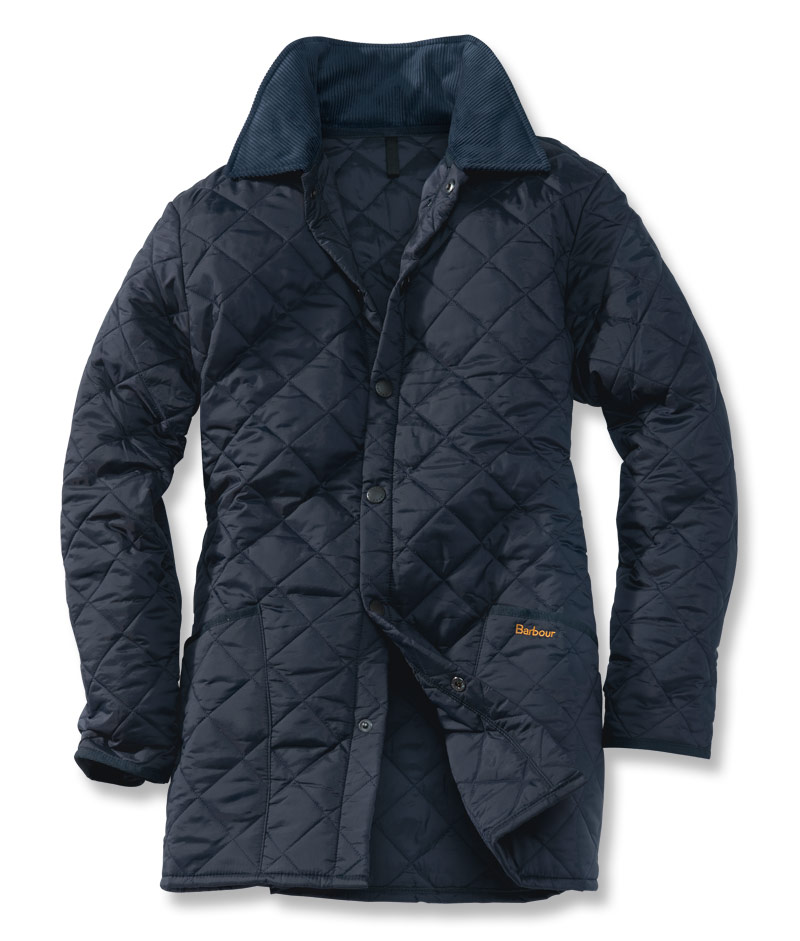 Barbour Steppjacke Liddesdale in Dunkelblau