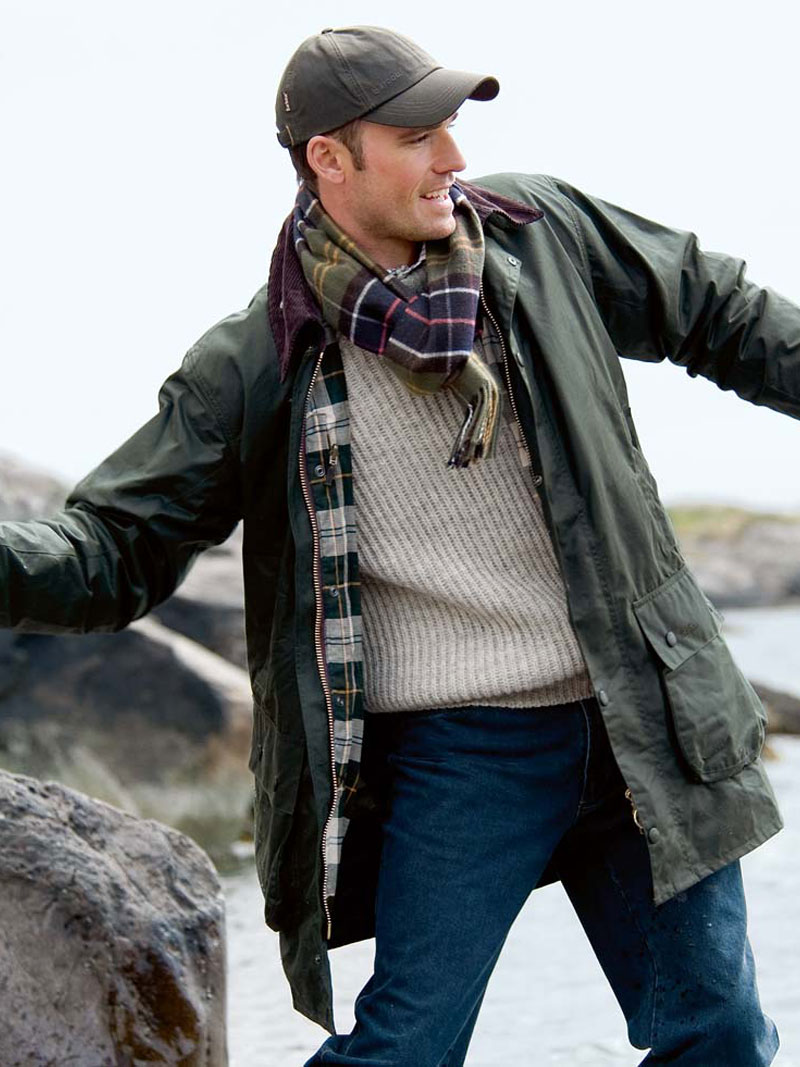 Die Barbour-Jacke 'Border' in Oliv