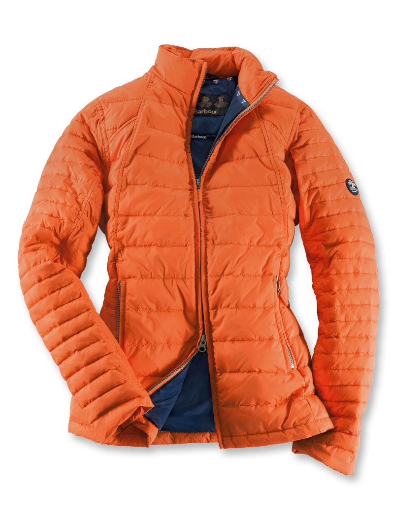 Barbour sommer steppjacke burnt orange