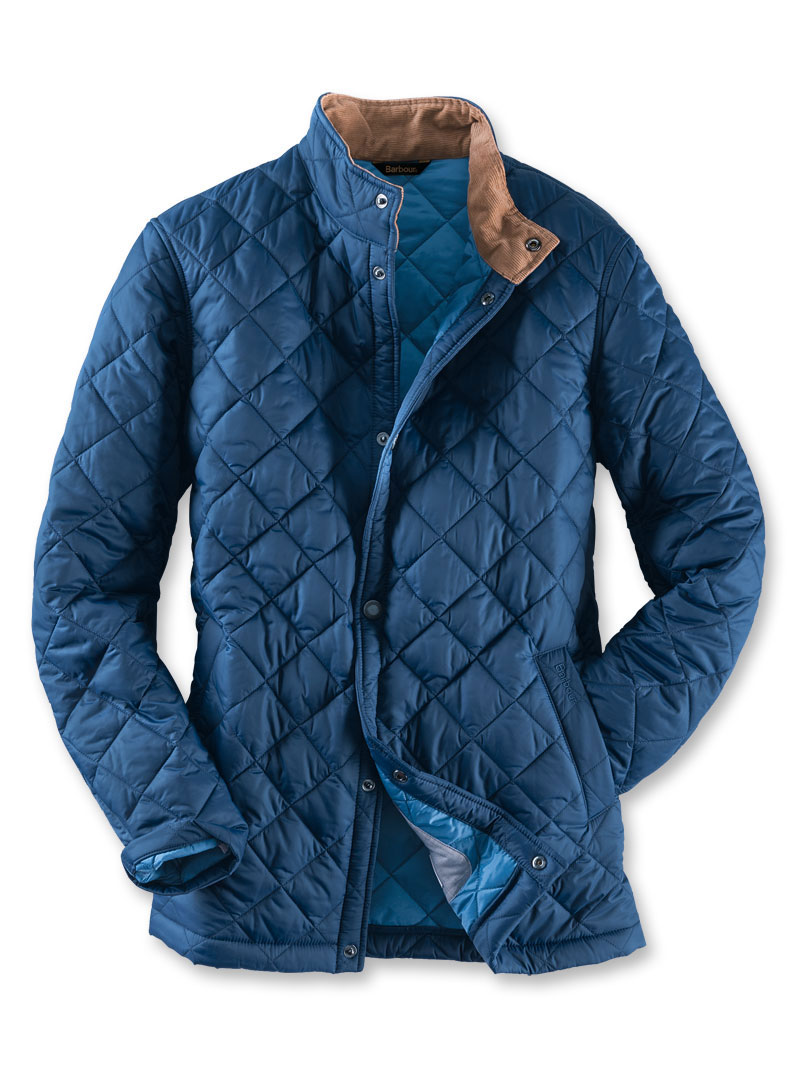 Barbour Steppjacke 'Elgon Jacket' in Navy