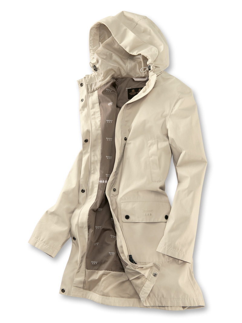 Barbours 'Barogram Jacket' in Ivory Bild 2