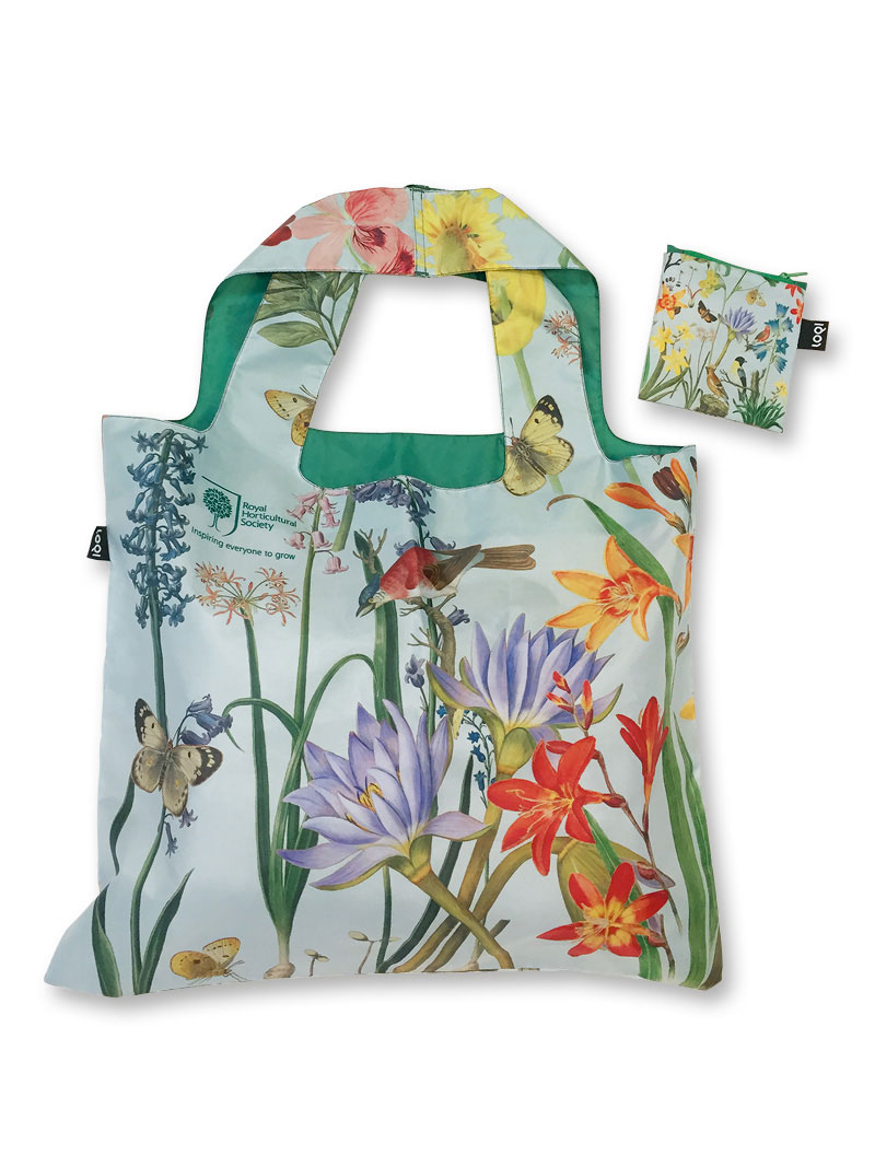 RHS-Shoppingbag 'Paradise Garden' in Aqua