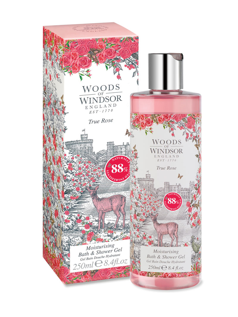 Duschgel True Rose von Woods of Windsor