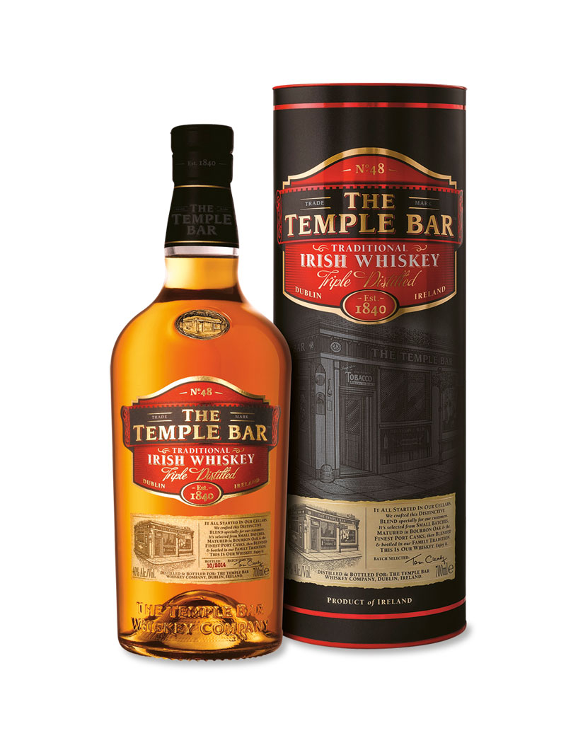 The Temple Bar Traditional Irish Whiskey