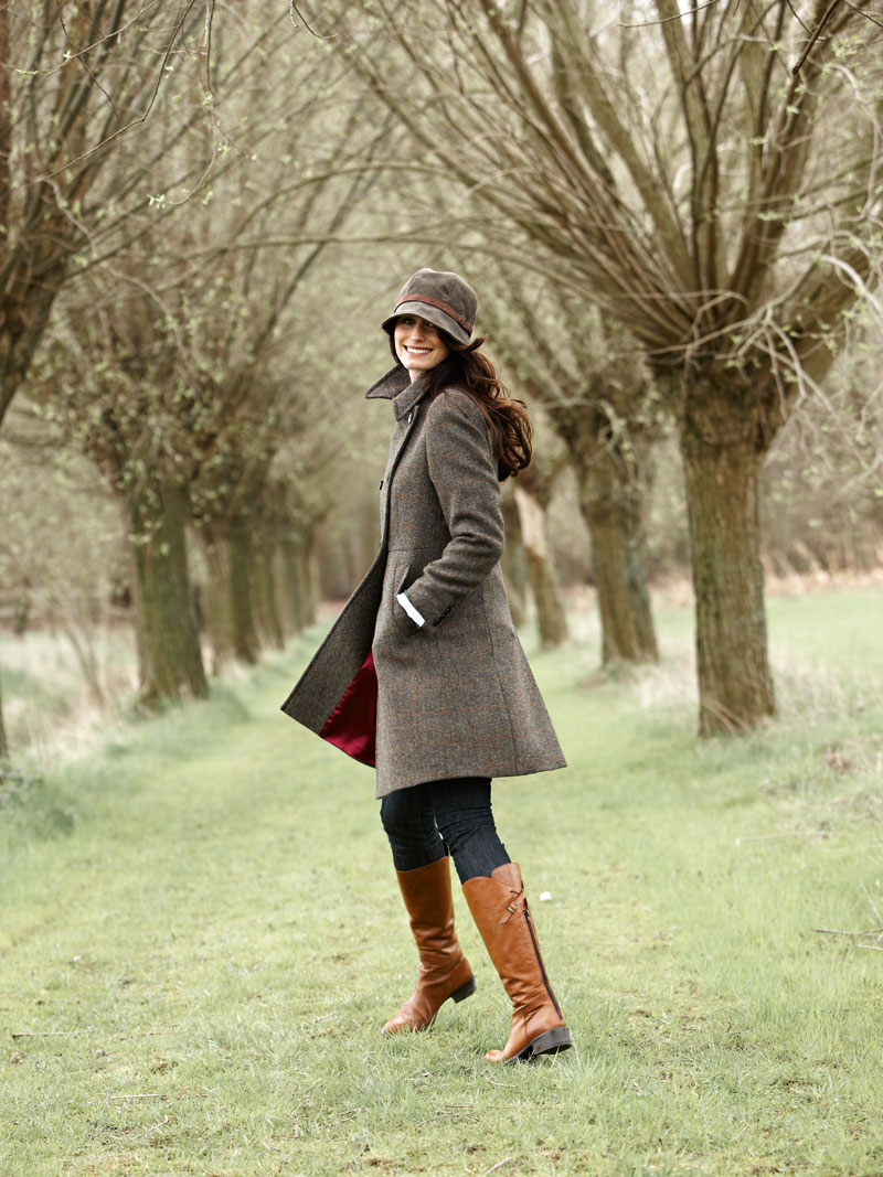 Modisch femininer  Harris - Tweed  - Mantel bestellen - THE BRITISH ... d60ce9935c