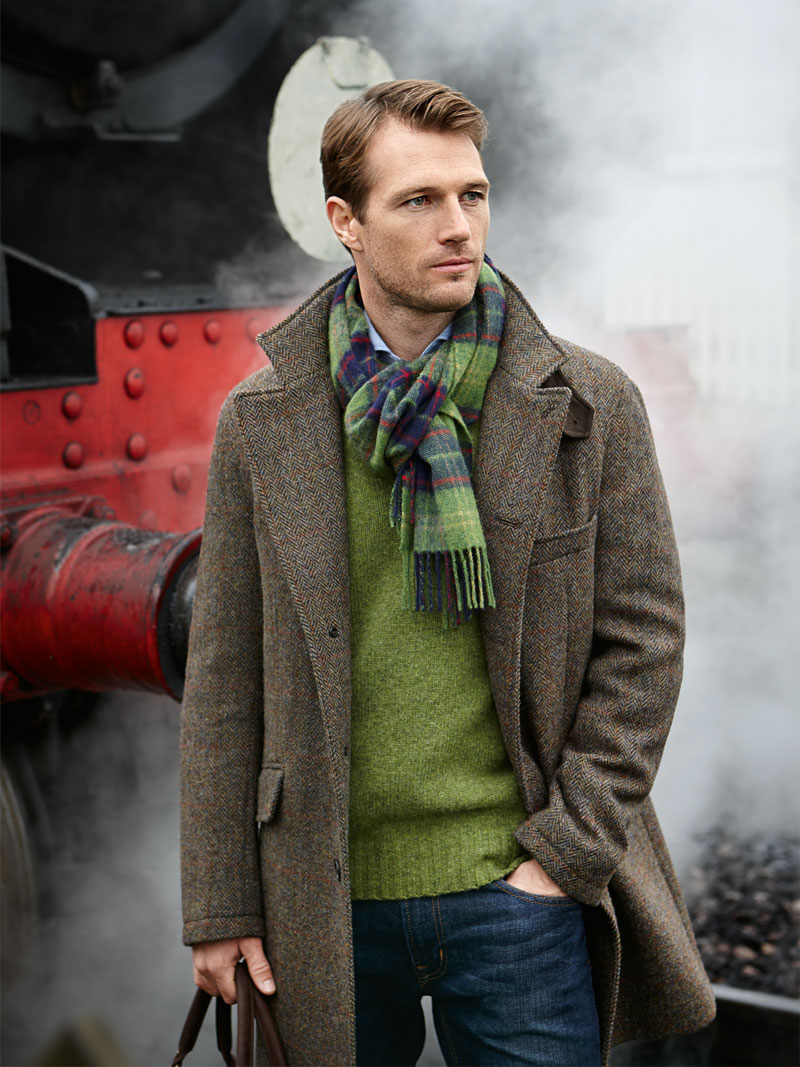 Tweedmantel aus Harris Tweed für Herren