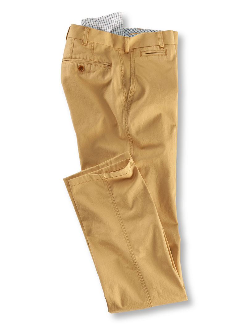 Baumwollhose 'Shakespeare' aus Cotton-Drill in Beige