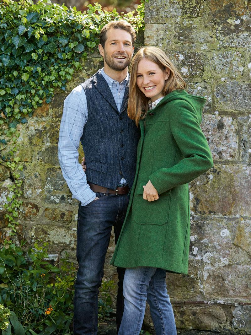 Harris-Tweed-Mantel in Irish Green von Beaver s bestellen - THE ... ef43326671
