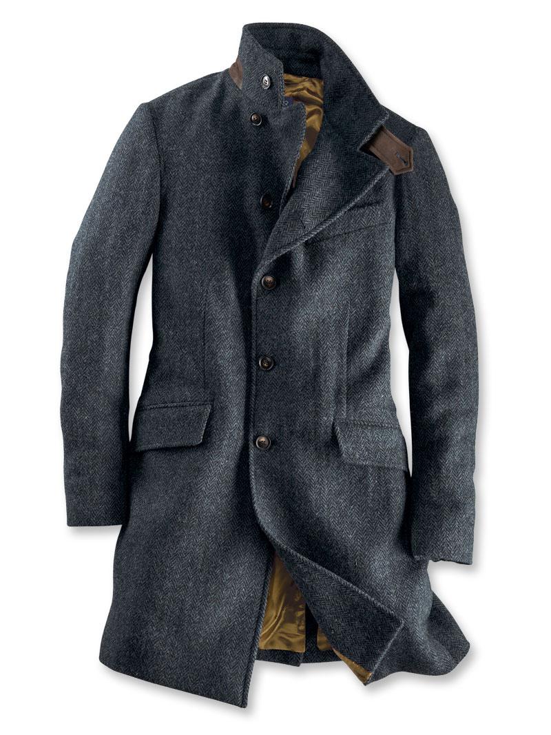 Moderner Harris-Tweed-Mantel in Grau von Beaver s bestellen - THE ... 981d47e810