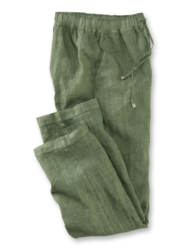 Leinenhose in Irish Green