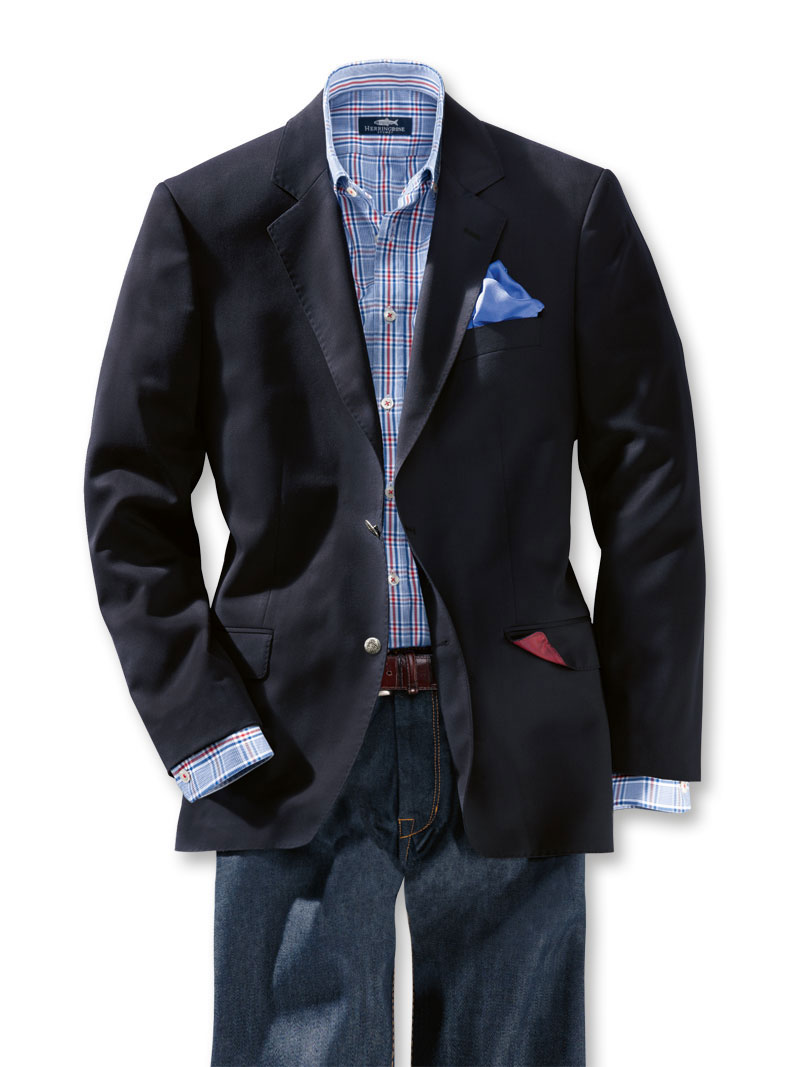 Englischer Club Blazer in Modern Fit