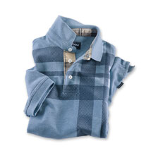 Barbour-Polo 'Howard' in Hellblau und navy