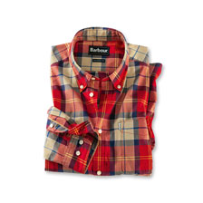 Barbour-Hemd 'Toward' in Rot-Beige Kariert