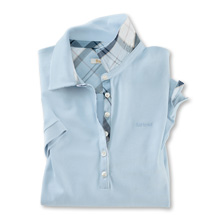 Barbour-Poloshirt 'Portsdown' in Pale Blue