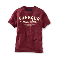 T-Shirt mit Barbour Leuchtturm in Rot