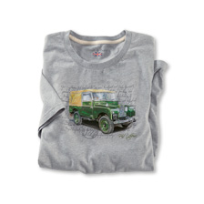 T-Shirt 'Land Rover' in Hellgrau