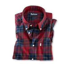 Barbour Hemd in roten Tartanfarben