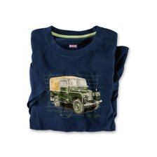 T-Shirt 'Land Rover' in Dunkelblau
