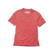 Rosa T-Shirt mit Hunter Logo