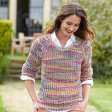 Multicolor-Pullover 'Rainbow Rose'