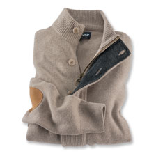Lambswool-Cardigan mit Zip von Barbour in Stone