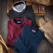 Barbour-Lambswool-Pullover in Navy