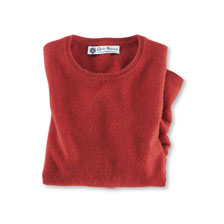 Luxus-Pullover aus Kaschmir in Burnt Orange