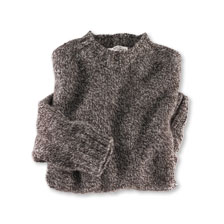 Shetland-Pullover 'Herdwick' in Grau-Natur von Nor'Easterly