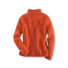 newest fc0e2 1f0a1 Royaler Zopfpullover in Orangerot von Harley