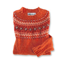 Fair-Isle Pulli in Orange