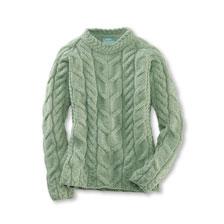 extrem einzigartig neueste viel rabatt genießen Aranpullover 'Greencastle' in Light Green Melange